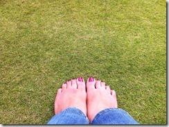 l200 feet on the grass